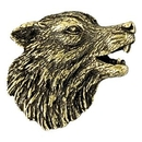 Blank Wolf Mascot Fully Modeled 3 Dimensional Pin