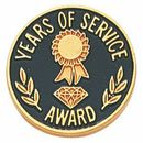 Custom Service Award Lapel Pins w/Clutch Back (Years of Service w/Engraving Space), 3/4