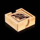Custom Bamboo Set Of 4 Coasters, 4
