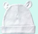 Custom The Laughing Giraffe® White Baby Bear Ears Beanie