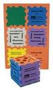 Custom Foam Desktop Puzzle Cube Organizer - Mixed Colors (3