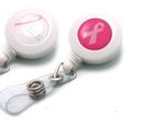 Custom Breast Cancer Awareness Plastic Badge Reel