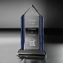 Custom Cobalt Elegance Optical Crystal Award (8 1/2