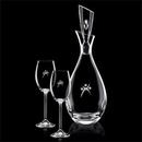 Custom 32 Oz. Juliette Crystalline Decanter W/ 2 Wine Glasses
