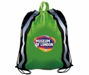 AAkron Rule Custom Non-Woven Reflective Drawstring Full Color Digital Backpack Withstripes, 16