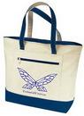 Custom Zipper Canvas Tote Bag w/ Gusset (18