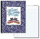Custom 4 Color Padded and Stripped Composition Notebook (30 Sheet)