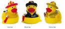 Custom Rubber Fire Fighter Duck, 3 1/2
