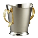 Custom Gold Feather Champagne Bucket (8.25