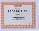 Custom Certificate (1 Color)