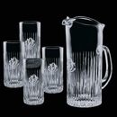 Custom 30 Oz. Crystal Carey Pitcher and 4 Hiball Glasses