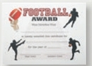 Custom Stock Certificate (Football)