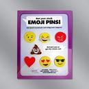 Set of 7 Emoji Pins w/Custom Card