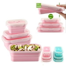 Custom Collapsible Silicone Food Bowel Lunch Set 3pcs, 5 3/10
