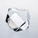 Custom Optic Crystal Hexagon Paperweight, 2.375