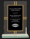 Custom Modern Style Glass Award M, 8 1/2