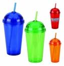 Custom 16oz Double Wall Acrylic Cup w/Straw (BPA Free)( screened )