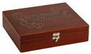 Custom Rosewood Finish Wine 5 piece Gift Set, 10 3/4