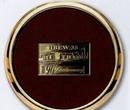 Custom Leather Coaster w/Rectangular Coin