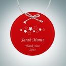 Custom Red Circle Ornament, 3