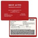 Custom Copy Guard Vinyl Insurance Card Holder / 5 3/4