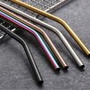Custom Colorful Bent Metal Straws, 8.5 Inch Length, 0.25 Inch Diameter, 215*6 MM, 0.25
