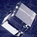 Custom Crystal Standing Cube Paper Weight (2-3/4
