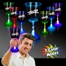 Custom 10 Oz. Light-Up Wine Glass With Clear Base
