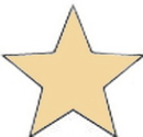 Custom Star Die Struck Hand Polished Lapel Pin, 3/4