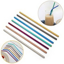 Custom Colored Stainless Steel Straws, 8 2/3