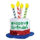 Custom Happy Birthday Cake Hair Clip