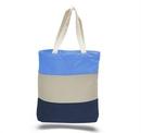 Custom Canvas Tri Color Professional Tote Bag, 15