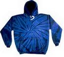 Custom Spider Navy Tye Dye Pullover Hoodie