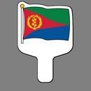 Custom Hand Held Fan W/ Full Color Flag Of Eritrea Guinea, 7 1/2
