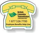 Custom Stock Telephone Magnet .020, Full Color Digital, White Vinyl Topcoat, 1.66