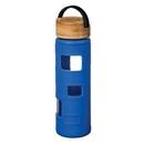 Custom The Astral Glass Bottle w/Black Lid - 22oz Royal Blue, 2.87