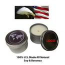Custom Scented Vanilla Candle in Tin Case (2oz.), 2