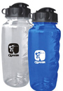 Custom 26 Oz. PCTG Water Bottle with Black Sip Through Lid
