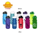 Custom 20 Oz. Sun Fun Cycle Bottle with Flip Top Lid, 7 1/4