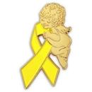 Blank Yellow Ribbon Angel Pin, 1