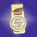 Custom Gold Plated Brass Money Clip (Screened)