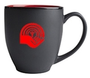 Custom 16 Oz., Hilo Bistro Mug (Matte Black/Red)