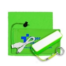 Custom Mobile Tech Power Bank Accessory Kit In Microfiber Cinch Pouch, 3 1/2