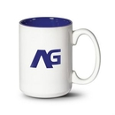 Custom Lucian Mug - 15oz White/Cobalt