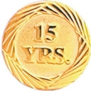 Custom Service Lapel Pin 15 Year