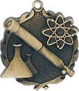 Custom Sculptured Science Medal 1.75