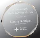 Custom Gold Octagon Acrylic Award, 5 1/2