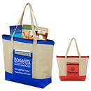 Custom 80Gsm Non-Woven Country Aire Zippered Tote Bag, 21