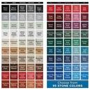 Custom 4-Pc Square Shale Texture Coaster Set w/Base, 4