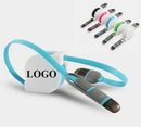 Custom 2 In 1 Retractable USB Charging Cable, 5